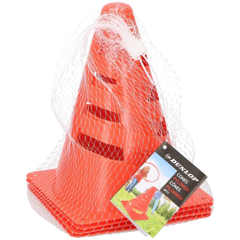 4x oranje pionnen 20 cm hoog