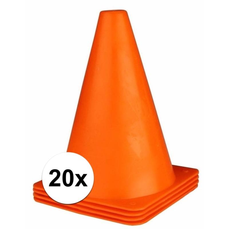 20x oranje pionnen 19 cm