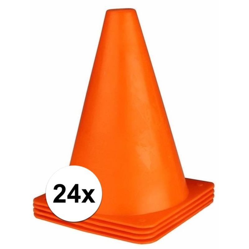 24x oranje pionnen 19 cm