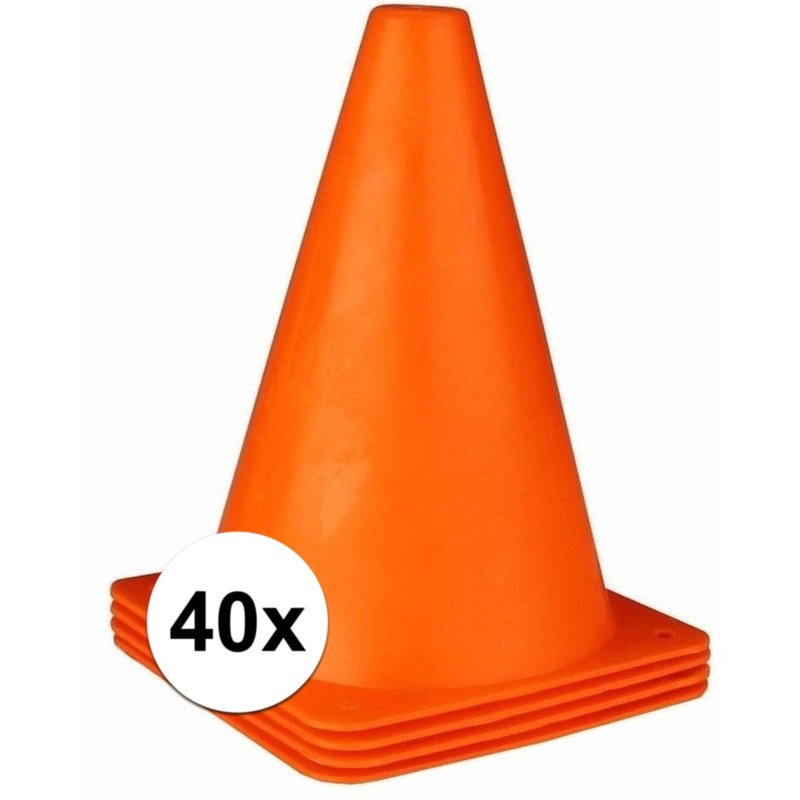 40x oranje pionnen 19 cm